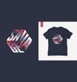 savage graphic mens three dimensional t-shirt vector image vector image