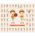 Set of boy character collection vector image vector image