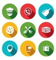 Set of Pizza Delivery Icons Cook Order vector image