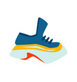 sneaker sports shoes cartoon vector image