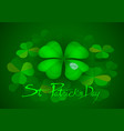 st patricks day party poster vector image vector image