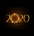 stylish 2020 firework style golden sparkle vector image vector image