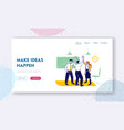successful project deal website landing page vector image vector image