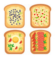 toast bread meal snack lunch sandwich vector image