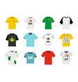 tshirt icon set flat style vector image vector image