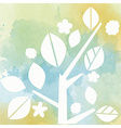 watercolor background with tree vector image