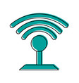 wifi signal icon image vector image