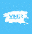 winter is coming soon card lettering celebration vector image vector image