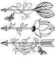 wooden arrows vector image vector image