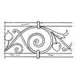 wrought-iron undulate band is a design on a vector image vector image