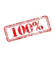 Hundred percent rubber stamp vector image
