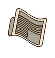 cartoon newspaper letter news daily vector image