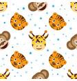 cute cartoon seamless childish pattern vector image