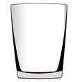 glass isolated vector image