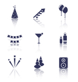 Party Icons of Holiday and Birthday Objects vector image