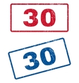 30 Rubber Stamps vector image vector image