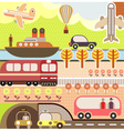 Train ship airplane and bus vector | Price: 1 Credit (USD $1)