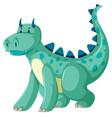 a green dragon character vector image