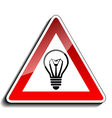 A warning sign ideas vector image vector image