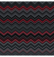 Abstract black red and grey zig-zag warped vector image vector image