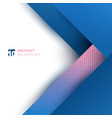 abstract template design geometric blue and pink vector image vector image