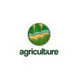 abstract template logo design with agriculture vector image vector image