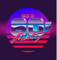 back to 80s sign banner vintage vector image