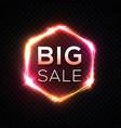 big sale banner original discount neon sign vector image vector image