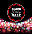 black friday sale poster in realistic style vector image vector image