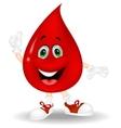 Blood cartoon giving a thumb up vector image