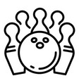 bowling game icon outline style vector image