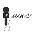 breaking news with black microphone vector image