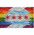brick wall chicago and gay flags vector image