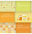 Cards with jars of honey set vector image vector image
