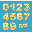 Cheese alphabet set vector image vector image