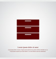 chest of drawers icon simple vector image