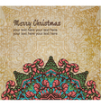 Christmas card with an ornament vector image vector image