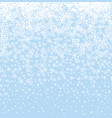christmas snow background winter holiday seamless vector image vector image