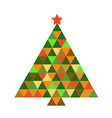 christmas tree in rainbow colors vector image vector image