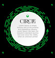 circle infographic for presentation bright vector image