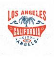 city angels los angeles california vector image