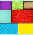 comic page bright concept vector image