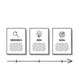 concept arrow business model with 3 successive vector image vector image