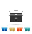 cooler bag icon isolated portable freezer bag vector image