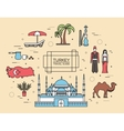 Country Turkey travel of goods places and vector image vector image