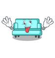 crazy sofa mascot cartoon style vector image vector image