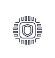 cryptography linear icon vector image