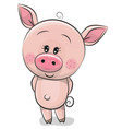 cute cartoon pig isolated on a white background vector image