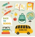 Cute school cartoon colection vector image vector image