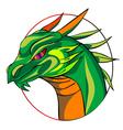 dragon sign vector image